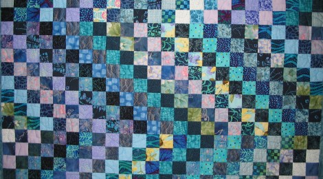 baby postage stamp quilt